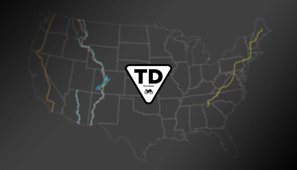 Tour Divide map logo triple crown
