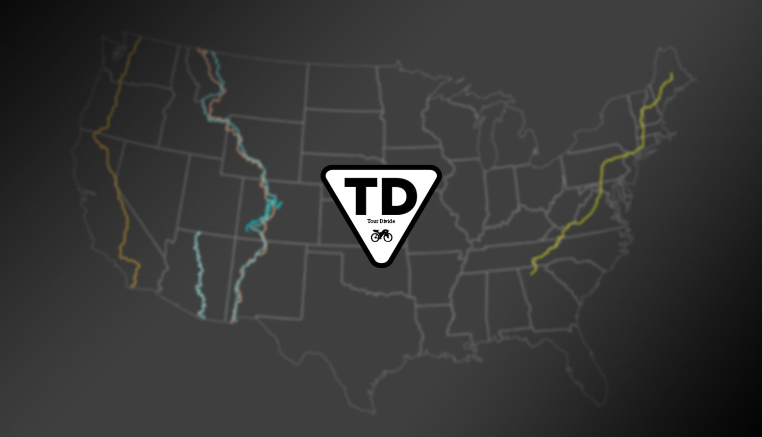Tour Divide map logo triple crown