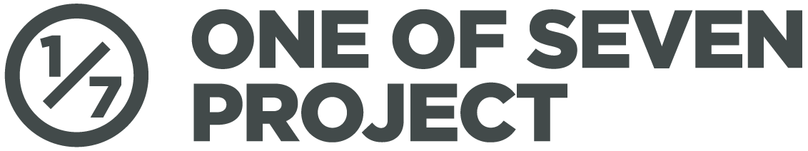 One of Seven Project logo Grey