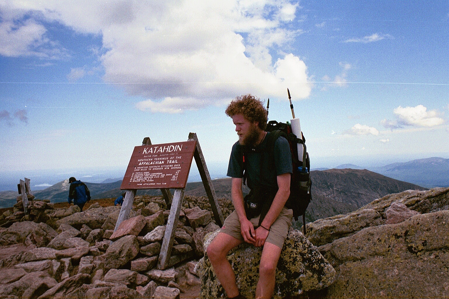 Craig Fowler Appalachian trail thru-hike finish - Mt. Katahdin Maine