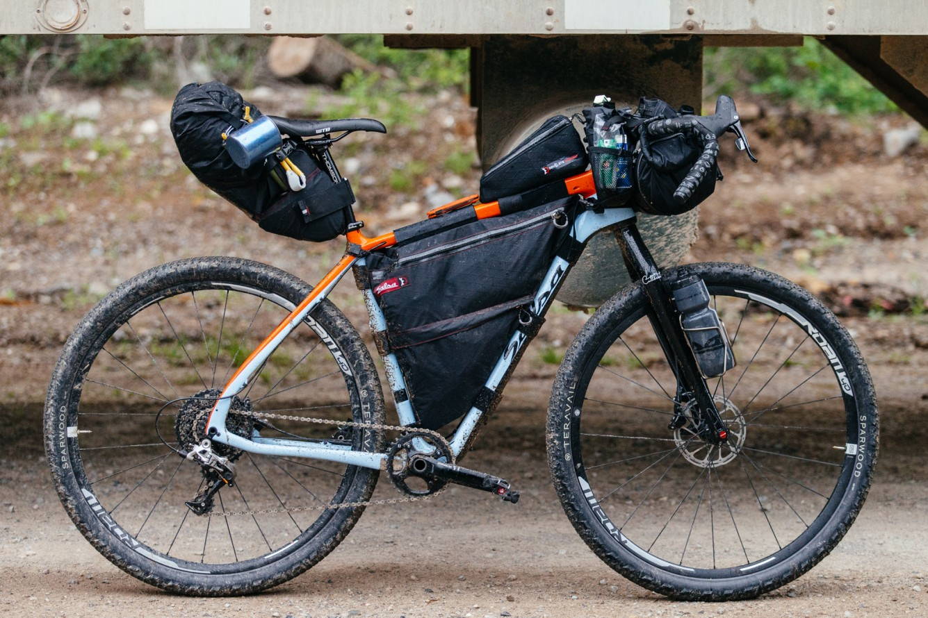 salsa cutthroat bikepacking set up