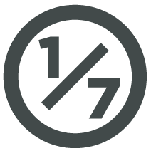 One of Seven Project logo circle Grey