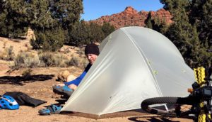 Big Agnes Fly Creek Platinum - bikepacking gear