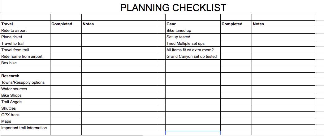 planning gear transportation resupply - bikepacking, pre-trip considerations