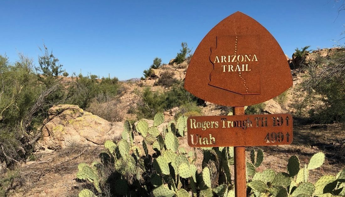 AZT sign bikepacking lessons - Arizona Trail Guide
