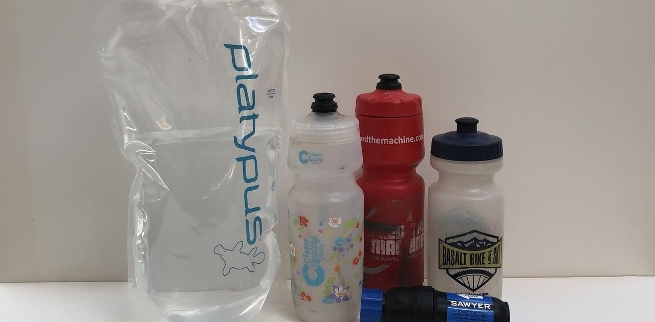 Water bottles - Platypus Platy - Sawyer Squeeze - Colorado Trail Resupply Guide