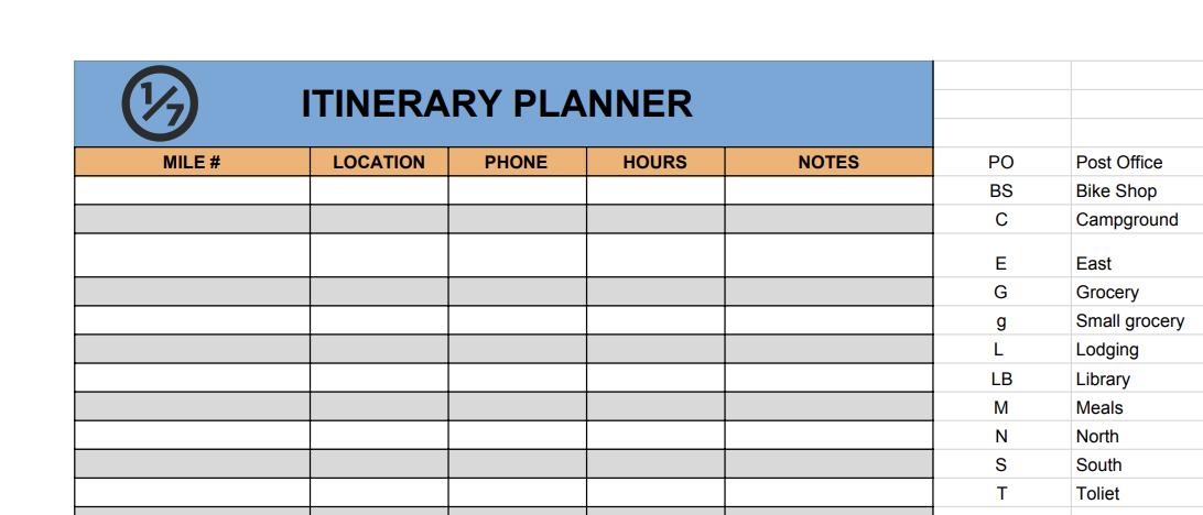 Itinerary planner for bikepacking & thru-hiking / hiking