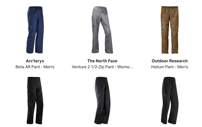 Buy Rain Pants at Backcountry.com