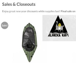 Alpacka Raft Close Out Sale - Deals & sales