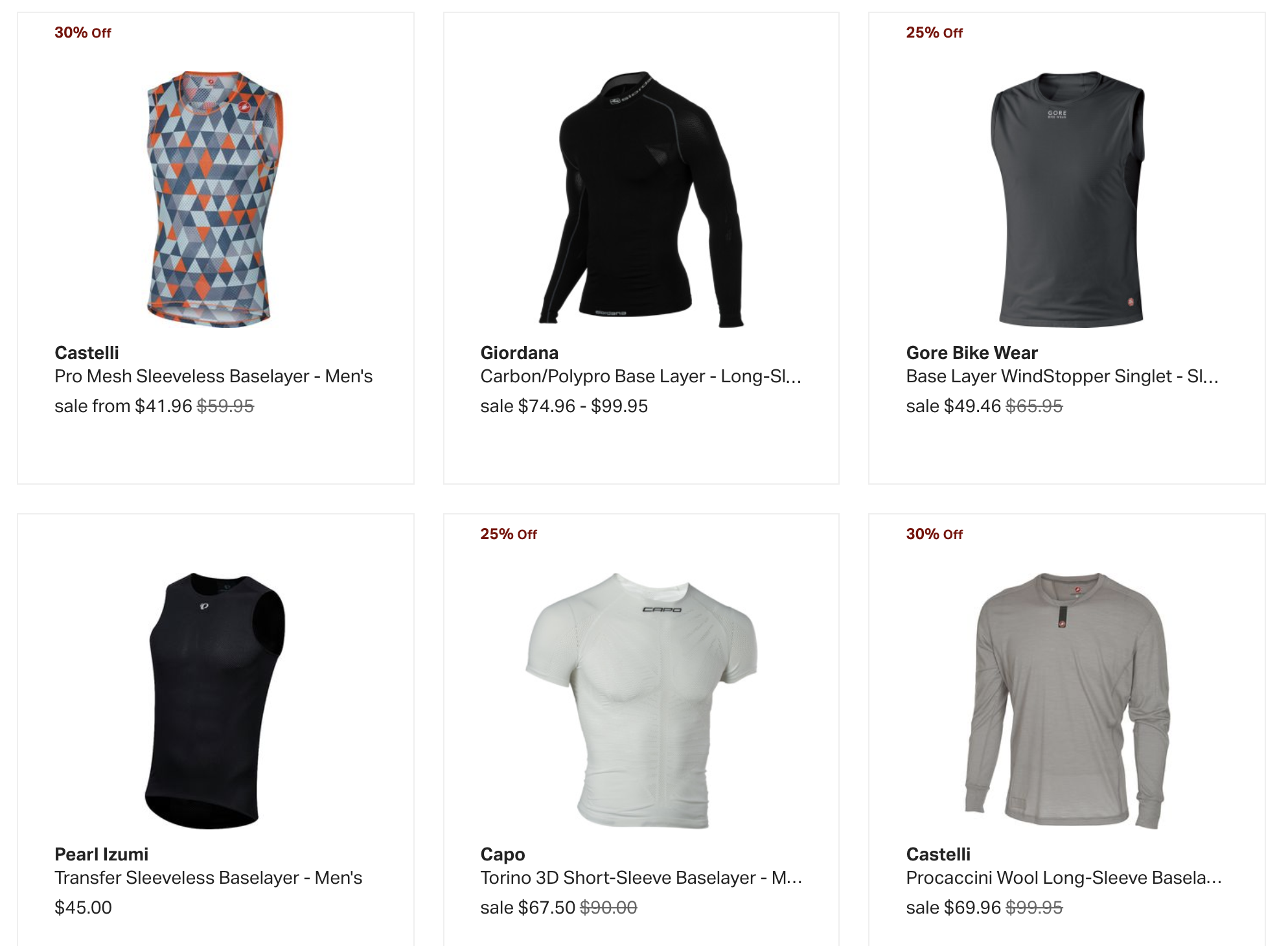 Buy Cycling Baselayers at Backcountry.com