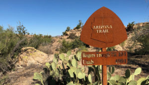 AZT sign - bikepacking lessons - Arizona Trail Guide - 2019 ARIZONA TRAIL RACE RIDER SURVEY