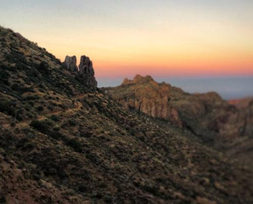 Sunrise on the Arizona Trail near Superior, AZ Best passages of the Arizona trail