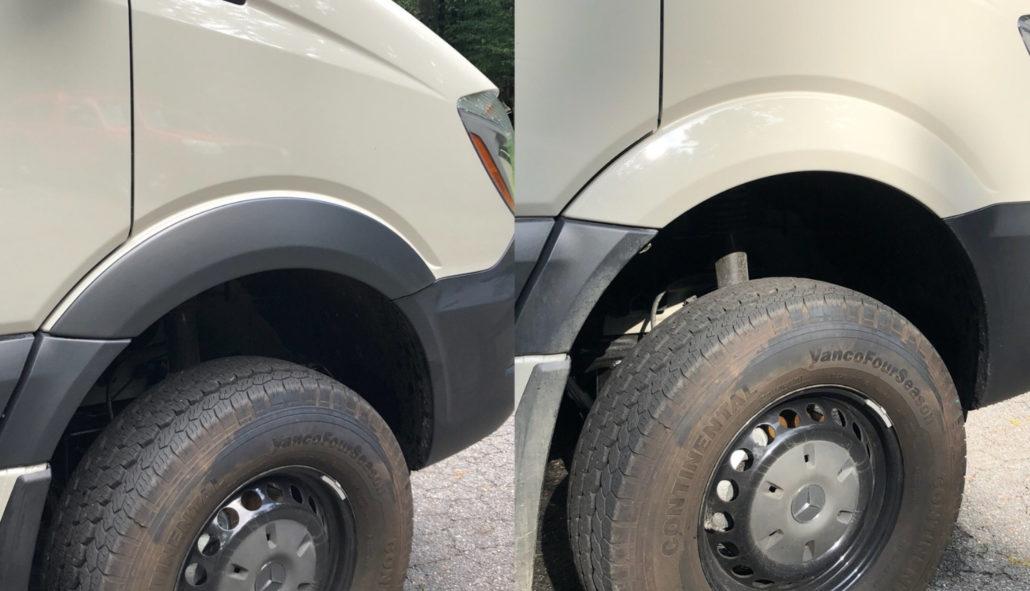 Terra Wagon Front Fender Flares for Mercedes Sprinter