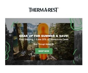 Thermarest Spring Sale