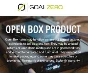 goal zero open box deals