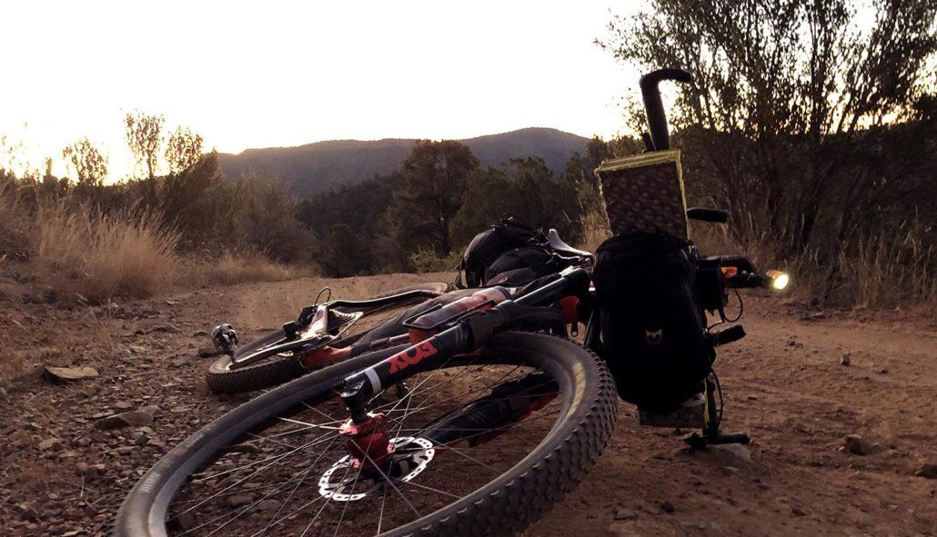 Phillip in repose AZT bikepacking