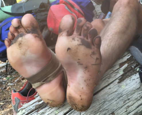 Dirty-feet- How to Prevent and Treat Blisters. hiking resources