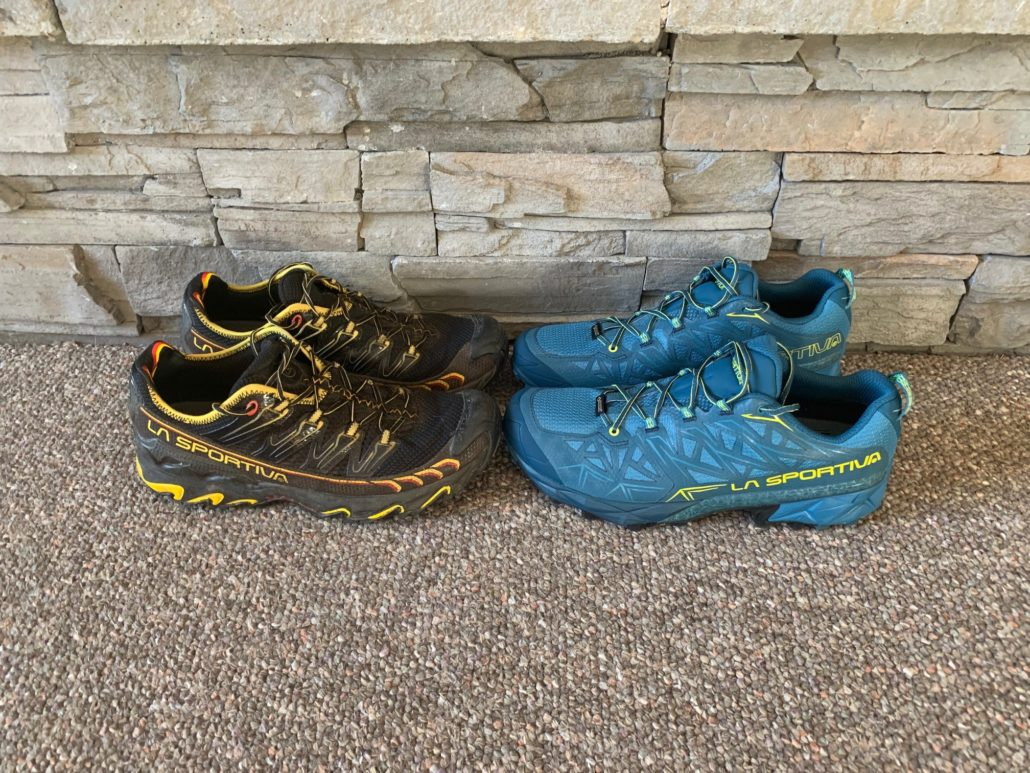 La Sportiva Ultra Raptor and Akyra Trail Running shoes - Cutting Pack Weight