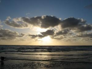 Sunset at Manzanita Beach - PCT 2007 Day 7 - Manzanita