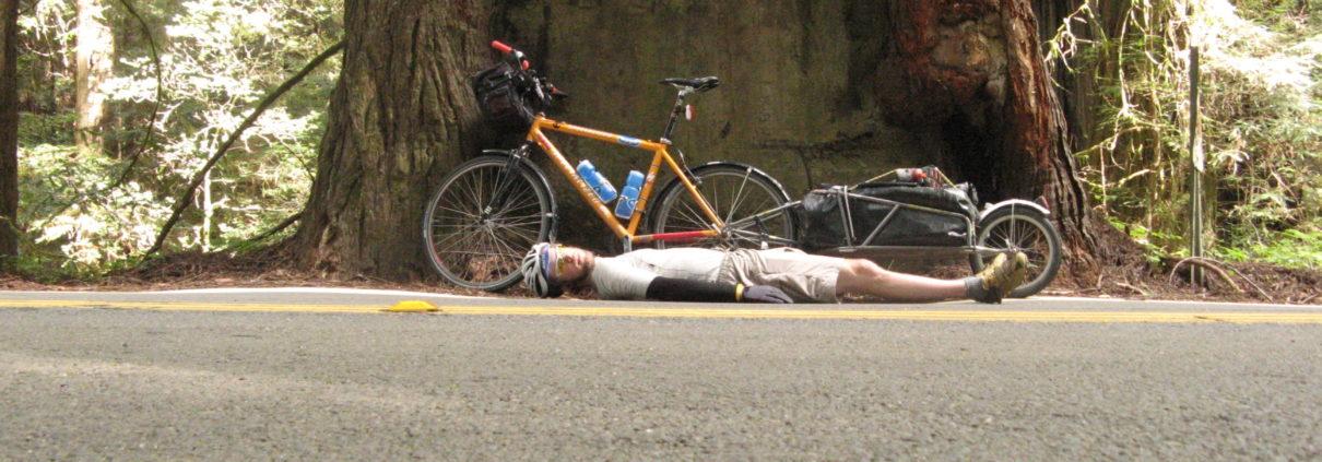Craig Fowler - Avenue of the Giants - PCT 2007 Day 15 - Eureka - Dean Creek CG
