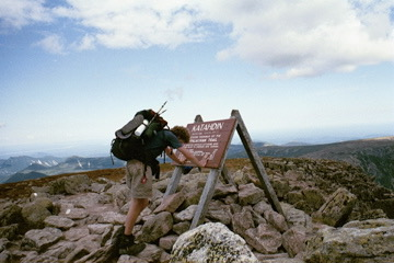 Craig Fowler - Appalachian Trail - Katahdin - Finish