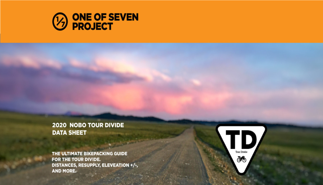 Tour Divide NOBO Data Sheet Cover