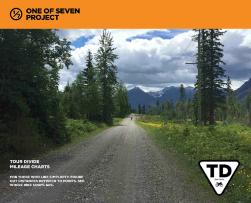 2021 Tour Divide MILEAGE CHART Cover bikepacking guide planning aids