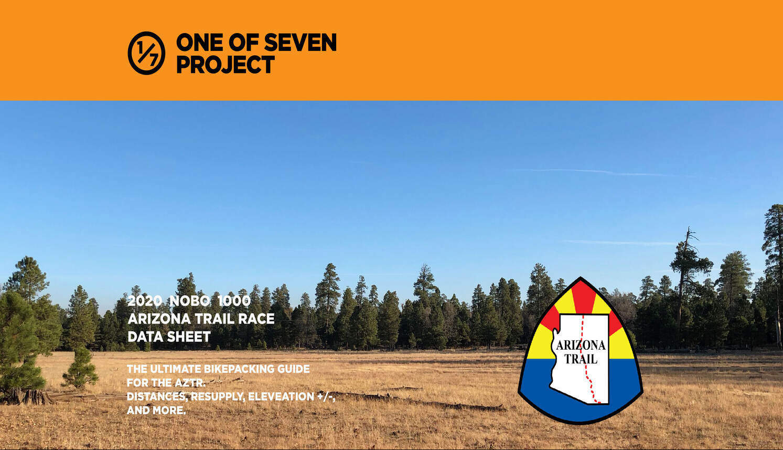 AZTR 1000 NOBO Data Sheet Cover- Arizona Trail