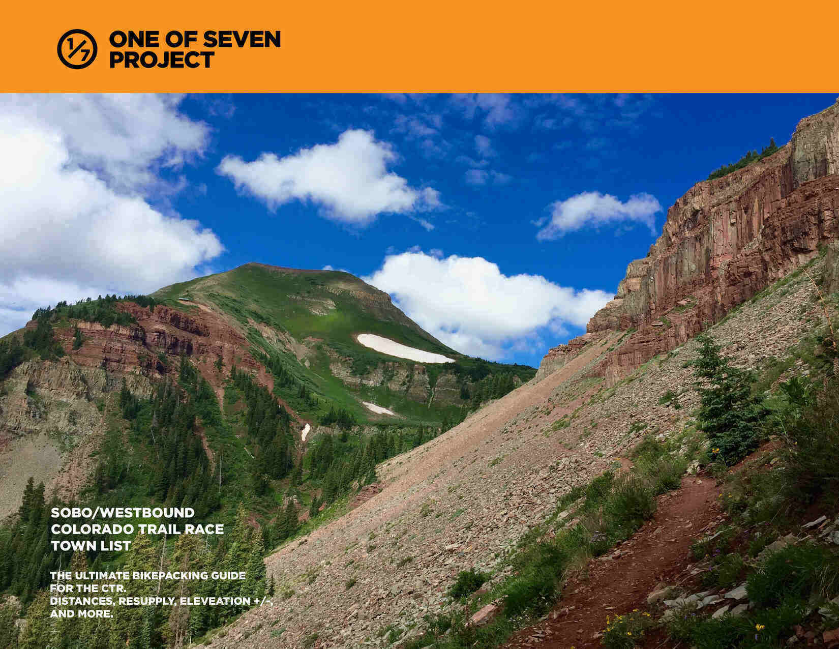 2021 Colorado Trail Race SOBO Town List Cover bikepacking guide planning aid