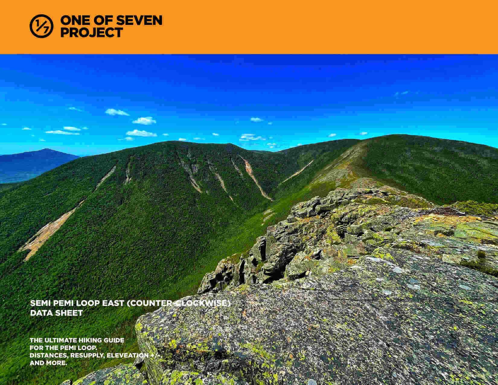 Semi Pemi East (counter-clockwise) Data Sheet hiking NH guide