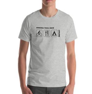 AZTR Ride, Eat, Sleep, Repeat T-shirt bikepacking clothes